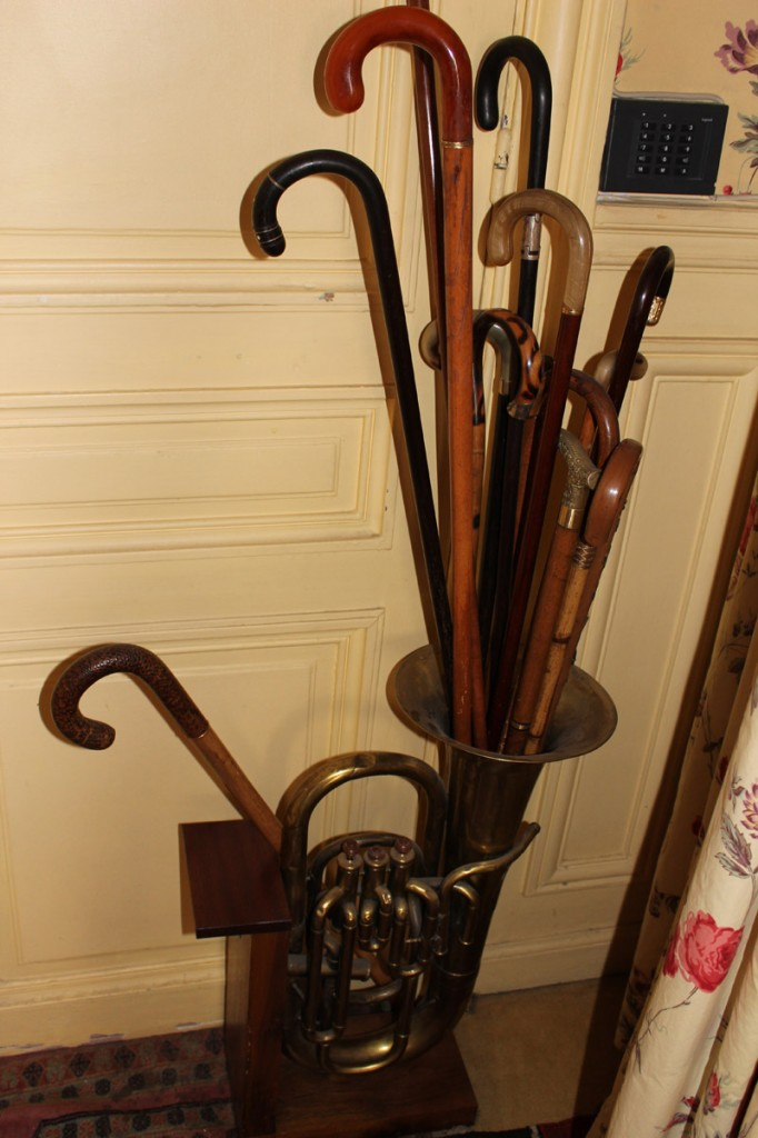 bouquet of canes in entrance.